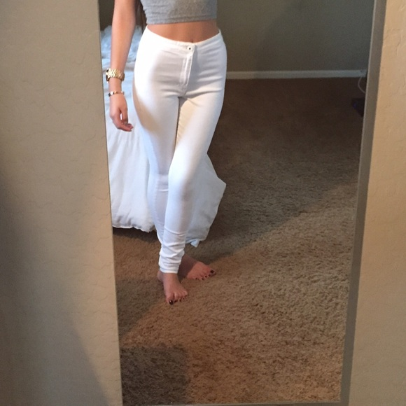 63% off Bullhead Denim - Uber high rise skinnest white jeans. from ...
