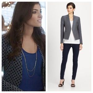 Theory Blue Black Blazer 6 NWT