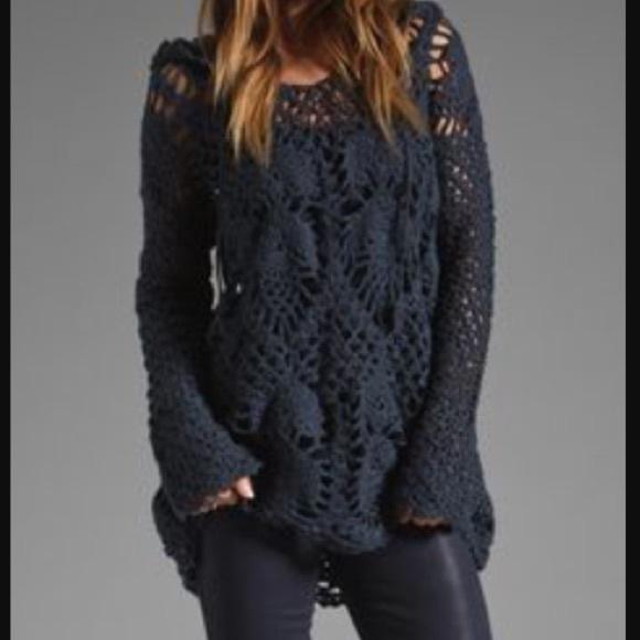 Free People Tops - Free People crochet  hoody