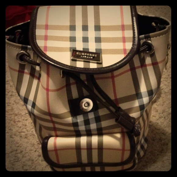 Burberry Handbags - Small plaid backpack purse ae670b68c1c4a