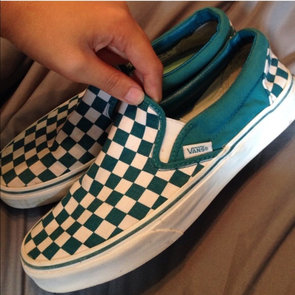 Vans Shoes | Teal And White Checkered