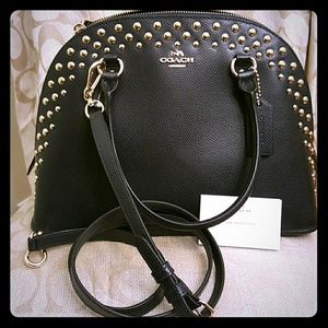 Coach Crossgrain Midnight Cora Domed Satchel