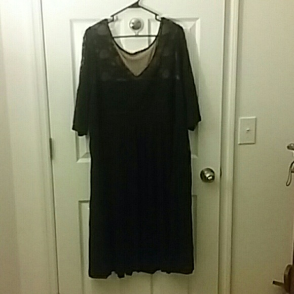 Catherine\'s black and nude plus size dress
