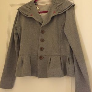  ANTHRO gray jacket