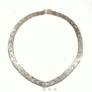 Vintage Jewelry - 🛇FINAL🚫Vintage Fancy Chevron Sterling Necklace