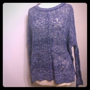 Sweaters - NWOT Blue and White Knit Sweater