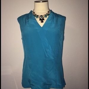 Classiques Entier Tops - Teal sleeveless top