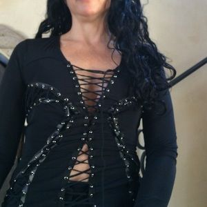 Parasuco Tops - Long sleeve blouse, with loop strings