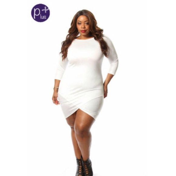 Dresses White Long Sleeve Plus Size Sexy Dress Poshmark