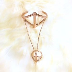 Pamela Love Oracle Rose Gold Balance Hand Chain