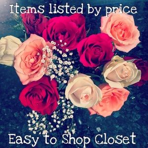 Other - Closet listed by price!