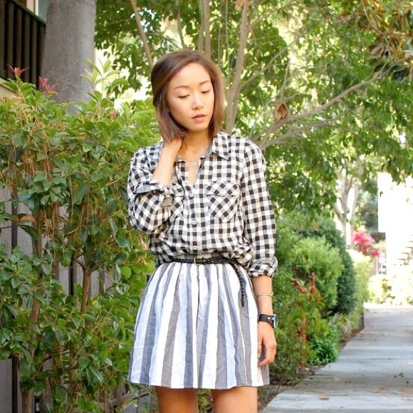 American Apparel Skirts - *New* American Apparel wide stripe circle skirt