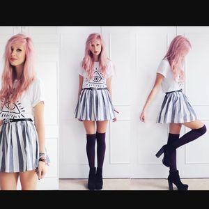 American Apparel Skirts - *New* American Apparel wide stripe circle skirt