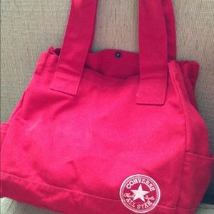 Red converse tote. Fabric. Washable