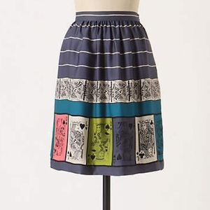 Anthropologie Pinochle playing cards skirt 2