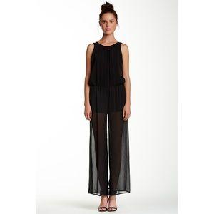 Pants - 🌲Buy 1 Get 1 Free🌲 Black sheer jumpsuit•