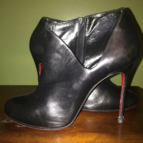 buy cheap browse discount price Christian Louboutin Lisse 100 Leather Booties cheap eastbay discount popular HEZh0