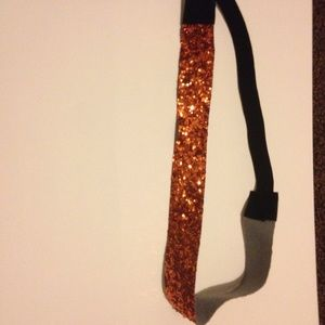 Orangish Gold Colored Sparkly Headband