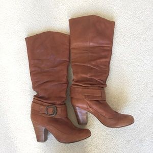 Steve Madden leather cognac Boots size 8