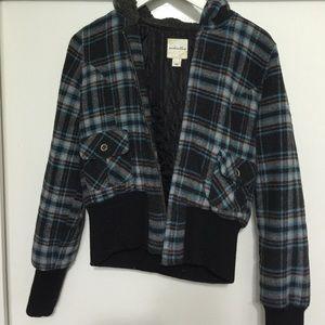 Anchor blue Jackets & Blazers - Plaid jacket