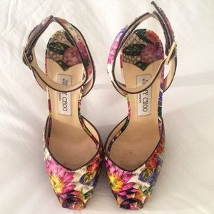Jimmy Choo Shoes - 🎉HP🎉Jimmy Choo Floral Print Python Sandal