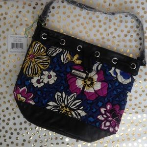 Vera Bradley Handbags - NWT African Violet Leather Drawstring Crossbody