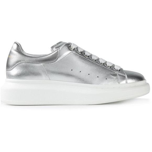 73dbe6f234a9 Alexander McQueen Shoes - Alexander McQueen silver sneaker