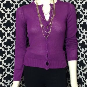 🆕LISTING Purple Button Down Sweater