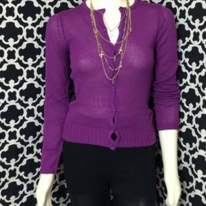 🆕LISTING Purple Button Down Sweatet