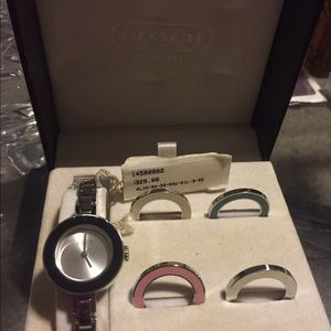 Interchangeable Faces Coach Watch