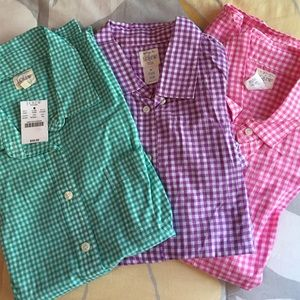 J.Crew perfect plaid button down shirts in XS