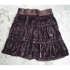 BCBG Boho Broomstick Skirt NWT