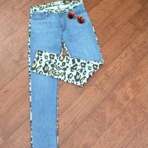 🆕LISTING Hudson Cheetah Print Denim Jeans