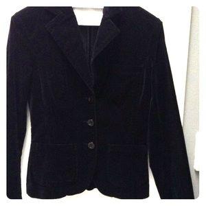 H&M Jackets & Coats - Black velvet H&M blazer
