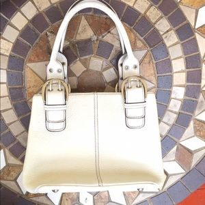 Tignanello Handbags - ❤Pebble White Handbag