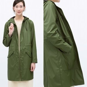 Zara Jackets & Blazers - Zara military green waterproof jacket