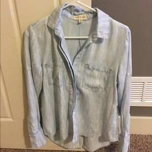 Anthropologie Cloth and Stone Chambray shirt