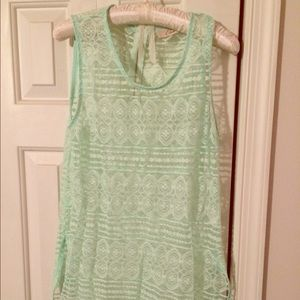 Tops - Mint Green Nordstrom Lace Top