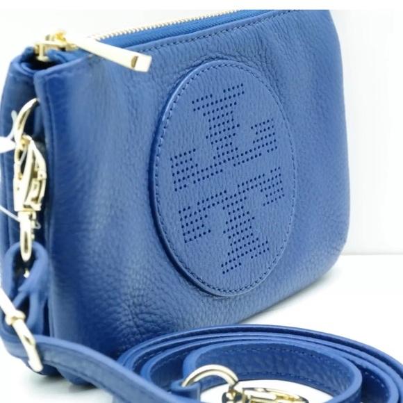 5f35a5472b8 Tory Burch Kipp Nile Blue Cross Body Bag. Listing Price   100