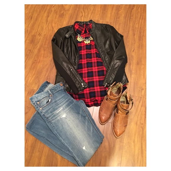c69afd4eed2 Forever 21 Tops | Plaid Flannel Tunic | Poshmark