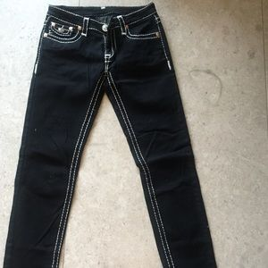 Black Jeans With White Stitching - Xtellar Jeans