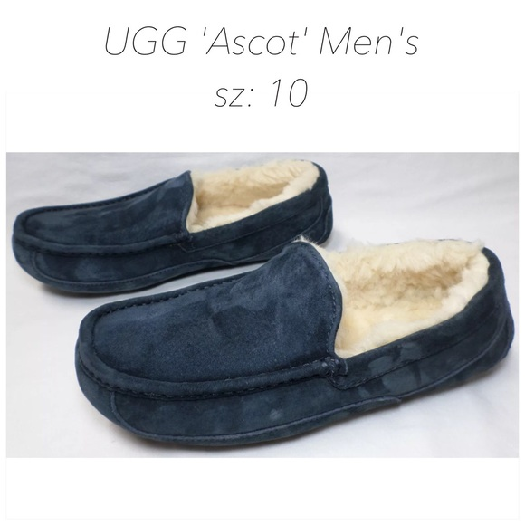 UGG 'Ascot' Blue Men's Slippers sz: 10