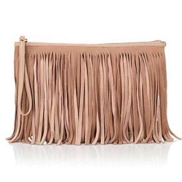 49% off BCBGeneration Handbags - BCBGeneration tan suede fringe ...