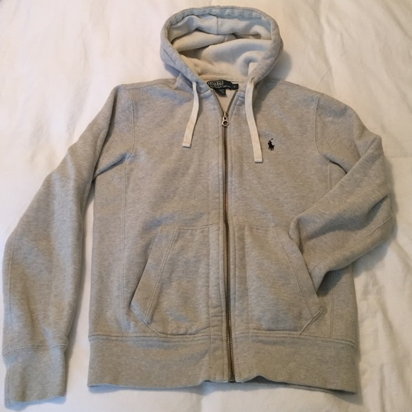 8be5483a5cb [Polo] grey zip up hoodie