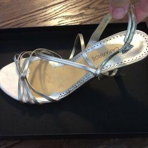 Caparros Shoes - Gold caparros leather sandals