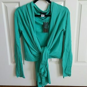 NWT BCBG sweater wrap top in XS/S
