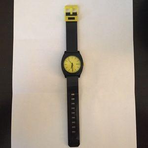 Black and Yellow Nixon Watch