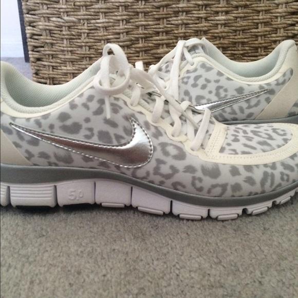 Nike Free 5.0 Para Mujer Leopardo Blanco hZpO9ySc3w