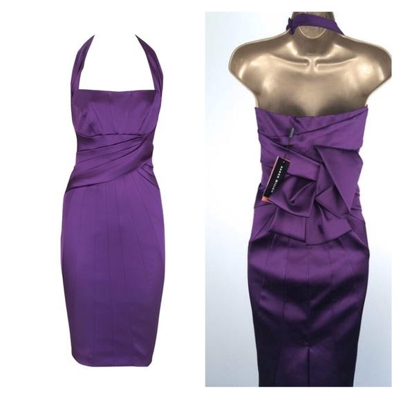 ab6e7ab4717 Karen Millen Dresses   Skirts - Karen Millen Satin Halter Evening Dress.