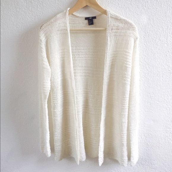 H&M - New H&M Off white knit cardigan from Juliana's closet on ...